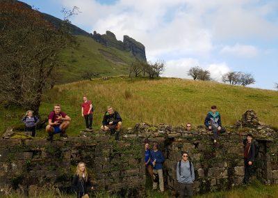 Group near Eagles Rock on Ruin