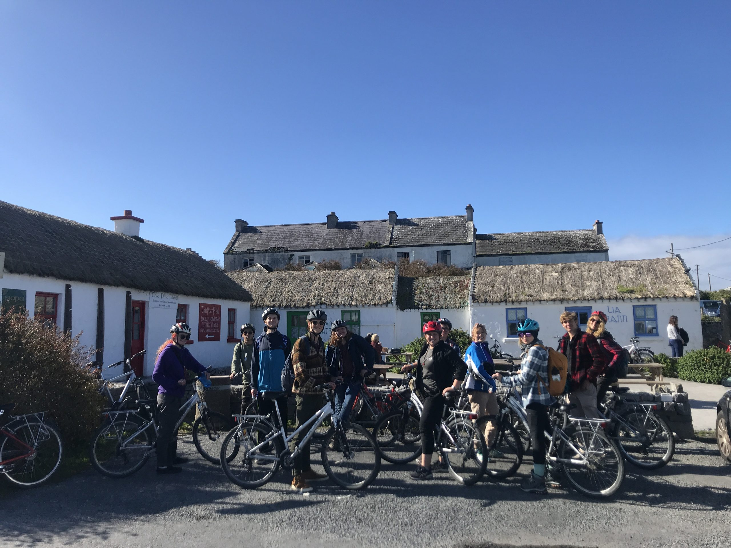 Group on Innishmor with Bikes