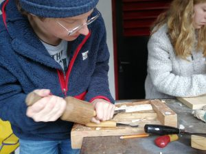 Student Doing Woodwork