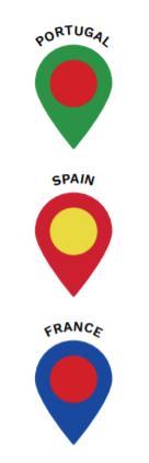 European Arts and Culture Location Pins